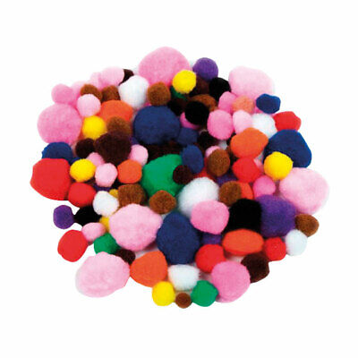 Artstraws Poms, Assorted Colours & Sizes