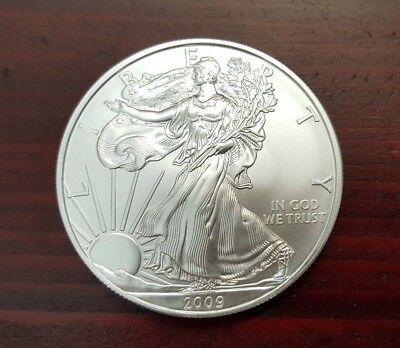 2009 US Silver American Eagle Uncirculated 1 Troy Ounce .999 Silver Bullion Coin