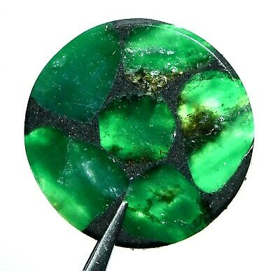 31.65 Ct Natural Colombian Trapiche Emerald Gem Stone From Muzo AGSL Certified