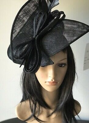 ccb7c6b8 Stunning Black Ascot Wedding Hatinator Hat Fascinator Mother Of The Bride