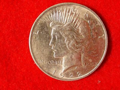 1922 P Peace Silver Dollar 90% Silver Coin Estate Find Uncirculated Nice Details