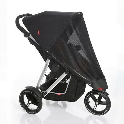 Phil&Teds Verve Vibe Buggy Pushchair UV Sun Cover Shade With Back flap