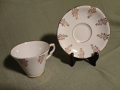 Vintage Tea Cup and Saucer - Fine Bone China Made in England - Gladstone