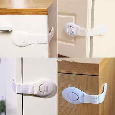 Kids Baby Wardrobe Safe Lock Band Door Cupboard Proof Cabinet Safty LocksLH