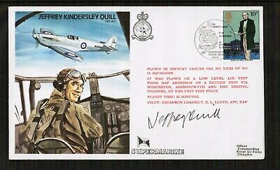 RAF Jeffrey Quill Commem Cover Signed by Jeffrey Quill