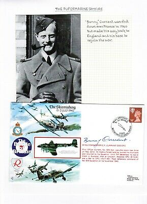 1990 RAF Battle of Britain Commem Cover Signed by Bunny Currant