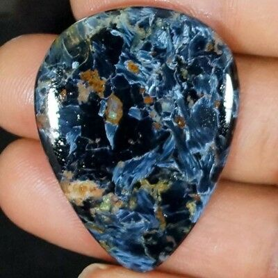 Natural Pietersite Loose Gemstone Pear Magnificent Power Cabochon 60.00 Cts