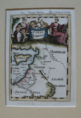 Cyprus  Chypre Syria M East Israel Mallet Antique Map 1683