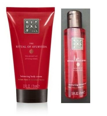 Huile Douche 75ml et Lait Corps 70ml Ritual of Ayurveda (lot 2) /EBBH