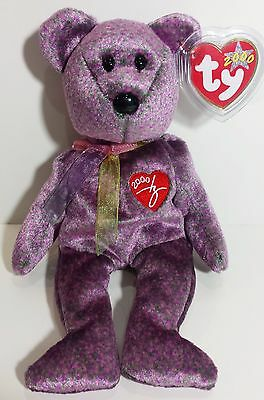 """TY Beanie Babies """"2000 SIGNATURE BEAR"""" - MWMTs! A MUST HAVE! RETIRED! GREAT GIFT"""