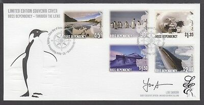 New Zealand Limited Edition Fdc Signed, 2005 Ross Dependency, Through The Lens