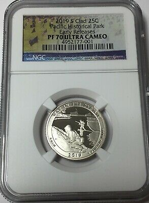 2019-S NGC PF70 PACIFIC Hist Park CLAD PROOF QUARTER .25 EARLY RELEASES PF70 #sa