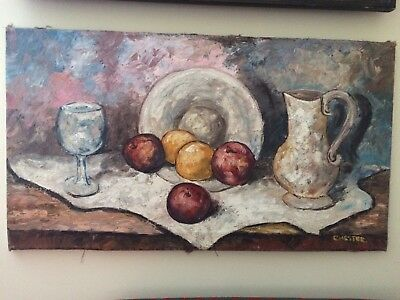 Original Oil Painting Still Life Signed CHESTER