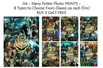 Harry Potter memorabilia Movie Photo Poster Print ONLY Wall Art A4 - 8 types