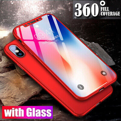 360° Shockproof Full Tempered Glass Case Thin Cover For Apple iPhone X XS Max XR