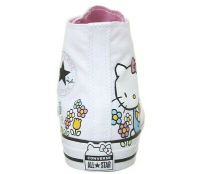 147fd1577a9fe Femmes Converse Converse All Star Baskets Montantes Hello Kitty Baskets  Blanches