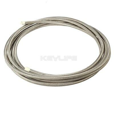 """20 Ft AN6 5/16"""" Stainless Steel Braided Fuel Oil Gas Line Hose Coolant Air -6AN"""