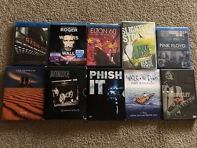 Lot of 10 Blu-ray DVD Music Concert Movies