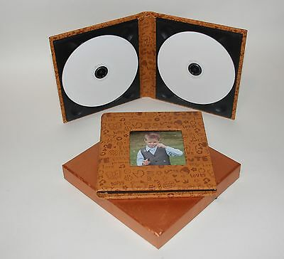 15 Kids Double Faux Leather CD/DVD cases, ideal for Christenings, birthdays