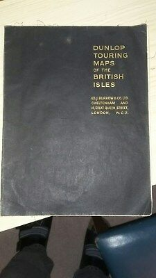 Vintage Dunlop Touring map of British Isles