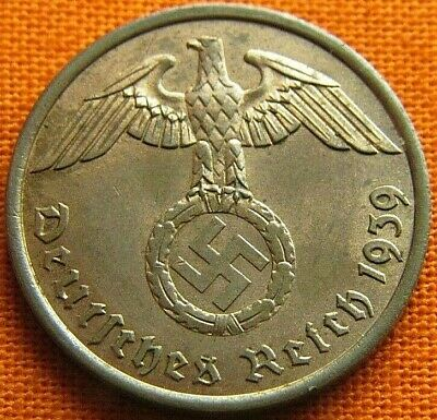 Wwii German 1939 - A 2 Reichspfennig 3Rd Reich Bronze Nazi Germany Coin Wc0094