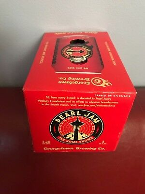 RARE Pearl Jam Pale Ale Collectible Beer Box Georgetown Brewing Seattle SOLD OUT
