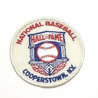 Vintage Embroidered Iron On Patch National Baseball Museum Cooperstown New York
