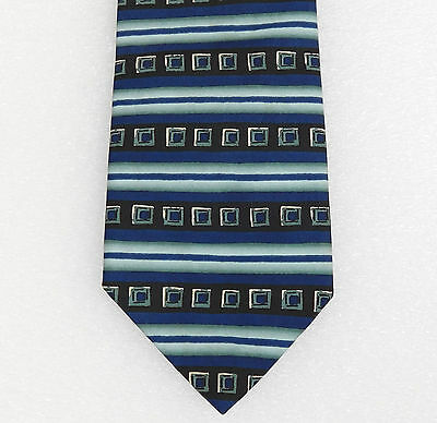 Striped tie Burton Mens Wear blue and black pattern