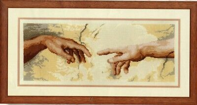 Michelangelo creation of Adam Hands Cross Stitch Chart Digital Format