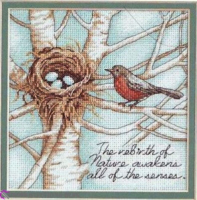 Robin Nest Cross Stitch Chart Digital Format