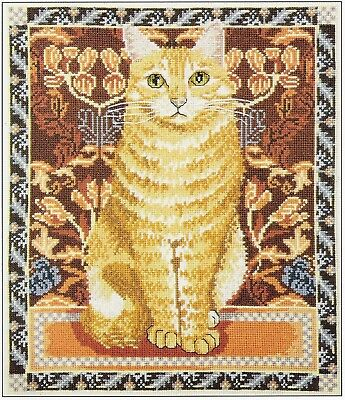Ginger Cat Cross Stitch Chart Free Post