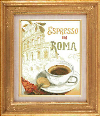 Cafe Roma Coffee in Rome Cross Stitch Chart  Digital Format