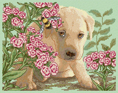 Summer Puppy Dog Cross Stitch Chart Digital Format