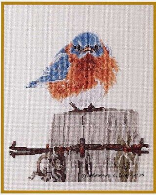 Mad Blue Bird Cross Stitch Chart Digital Format