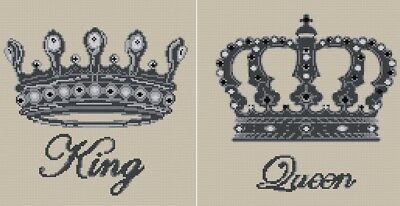 King & Queen Cross Stitch Chart Digital Format