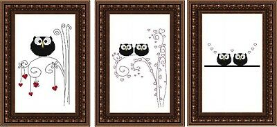 Set of 3 Bird Cross Stitch Digital Format