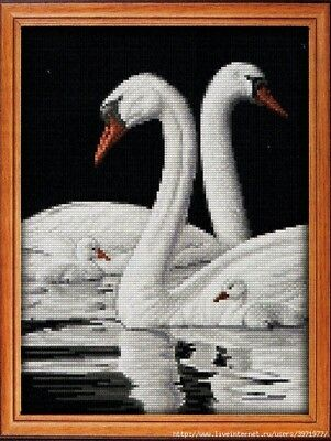 Swans Cross Stitch Chart Digital Format