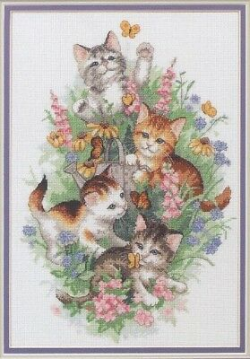 Playful Kitties Cross Stitch Chart Digital Format