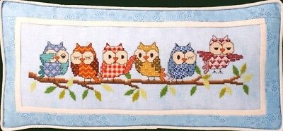 Outrageous Owls Cross Stitch Chart Digital Format