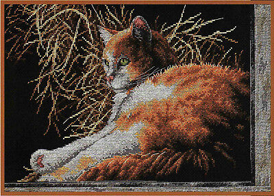 A Place in The Sun - Cat Cross Stitch Chart Digital Format