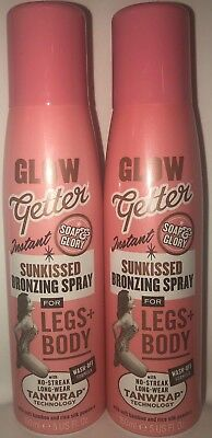 2XSoap And Glory Glow Getter Sunkissed Bronzing Spray For Legs + Body 2X150 ml
