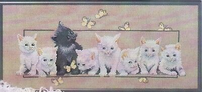 Kittens & Butterflies 2 Cross Stitch Chart Digital Format