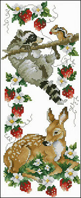 Strawberry Patch Cross Stitch Chart Digital Format