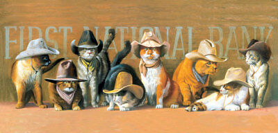 Cowboy Cats Cross Stitch Chart Digital Format