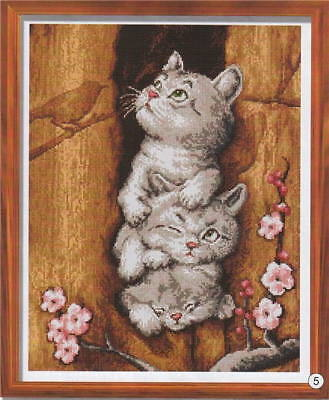 3 Little Kittens Cross Stitch Chart Digital Format