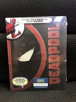 Deadpool Blu-Ray+DVD+Digital HD Steelbook Esclusivo Nuovo Sigillato Marvel