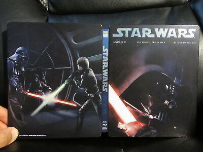 Star Wars Original Trilogy Blu-Ray Steelbook [UK] Region Free Mint Episode 4 5 6