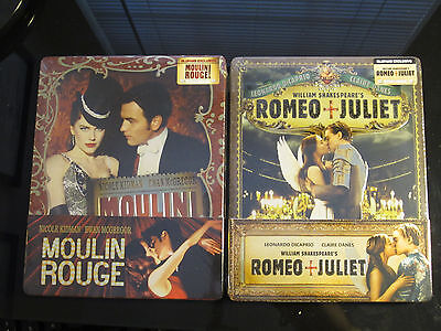 Romeo y Juliet + Moulin Rouge Blufans 1/4 Funda Blu-Ray Caja Metálica Sellado