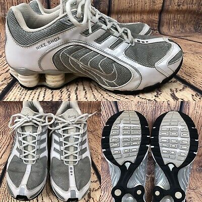 160650d0a419 2009 Womens NIKE SHOX 337775-004 White   Silver Running Shoes SIZE 9.5 EUR  41