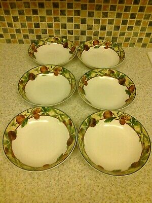 Royal Doulton Fine China Augustine Design 6 X Cereal Soup Or Dessert Bowls